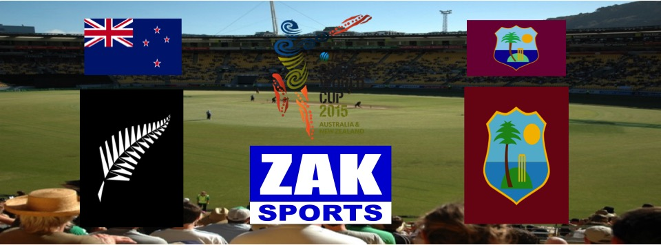 2015 ICC Cricket World Cup | Day 36 | Match 46 | 4th QF | New Zealand v West Indies | LIVE from Westpac Stadium, Wellington